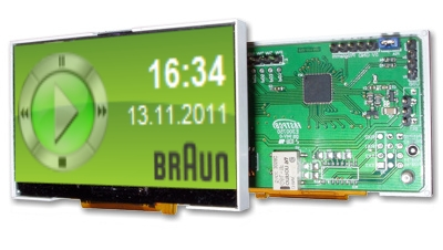 USB LCD Farb Color Display LCD-Hype VDR MCE Display 128x64 Pixel - LCD-Display - Linux4Media